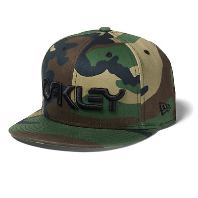 Oakley Factory Snap-Back Hat, Olive Camo, viewer