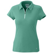Columbia Freeze Degree S/S Polo Womens Shirt, Glaze Green, medium