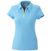 Columbia Freeze Degree S/S Polo Womens Shirt, Riptide, medium
