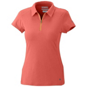 Columbia Freeze Degree S/S Polo Womens Shirt, Zing, medium