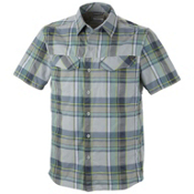 Columbia Silver Ridge Multi Plaid S/S Shirt, Aqua Tone Large Plaid, medium