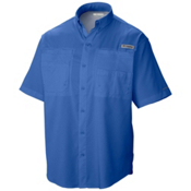 Columbia PFG Tamiami II Short Sleeve Mens Shirt, Vivid Blue, medium