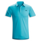 Arc'teryx Captive Polo S/S Shirt, Blue Python, medium