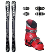 5th Element TXT Kids Ski Package, 19.0-22.0 - Red, medium