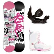 Ride Blush Slider Brigade Girls Complete Snowboard Package 2013, , medium