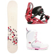 Swivel Sparkle Kat Brigade Girls Complete Snowboard Package 2013, , medium