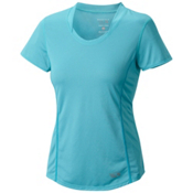 Mountain Hardwear Wicked Lite Short Sleeve Womens T-Shirt, Geyser, medium