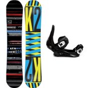 K2 Playback Snowboard and Binding Package 2013, 148cm, medium