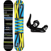 K2 Playback Snowboard and Binding Package 2013, 152cm, medium