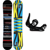 K2 Playback Snowboard and Binding Package 2013, 155cm, medium