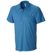 Mountain Hardwear Frequentor Short Sleeve Polo Shirt, Impulse Blue, medium