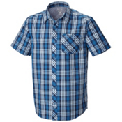 Mountain Hardwear Hibbard Short Sleeve Shirt, Impulse Blue, medium