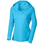Mountain Hardwear Butter Hooded Topper Pullover Womens Hoodie, Bounty Blue, medium