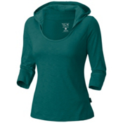 Mountain Hardwear Lochvale Slub Long Sleeve Womens Hoodie, Waterfall, medium