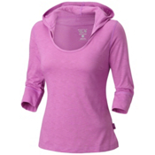 Mountain Hardwear Lochvale Slub Long Sleeve Womens Hoodie, Blossom Pink, medium