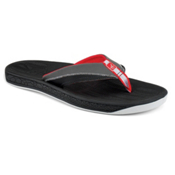 Sperry Sea Kite Leather Mens Flip Flops, Black, medium