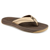 Sperry Sea Kite Leather Mens Flip Flops, Brown, medium