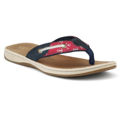 Sperry Seafish Womens Flip Flops, Sailor, medium