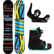 K2 Playback Complete Snowboard Package 2013, 155cm, medium