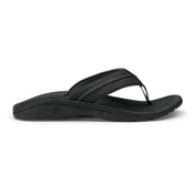 OluKai Hokua Mens Flip Flops, Black-Dark Shadow, medium