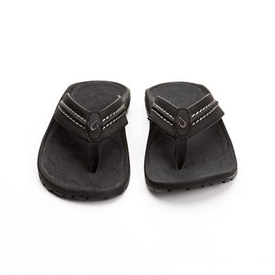 OluKai Hokua Mens Flip Flops, Black-Dark Shadow, viewer