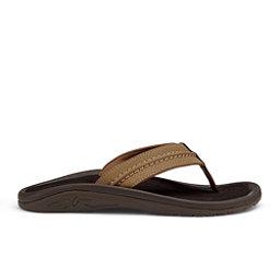 OluKai Hokua Mens Flip Flops, Tan-Tan, 256