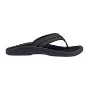OluKai Hokua Mens Flip Flops, Onyx-Onyx, medium