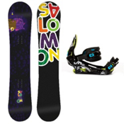 Salomon Mini Drift Rocker Kids Snowboard and Binding Package, , medium