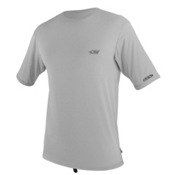 O'Neill Skins Short Sleeve Mens Rash Guard, Flint, medium
