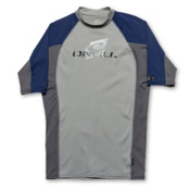 O'Neill Skins Short Sleeve Mens Rash Guard, , medium