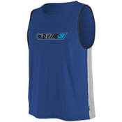 O'Neill Skins Hyperfreak Tank Mens Rash Guard, Fathom Blue-Flint-Black, medium
