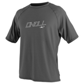 O'Neill 24/7 Tech Short Sleeve Crew Mens Rash Guard, Graphite, medium