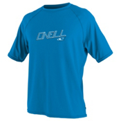 O'Neill 24/7 Tech Short Sleeve Crew Mens Rash Guard, Brite Blue, medium