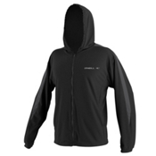 O'Neill 24/7 Tech Long Sleeve Zip Hoodie Mens Rash Guard, Black-Smoke-Black, medium