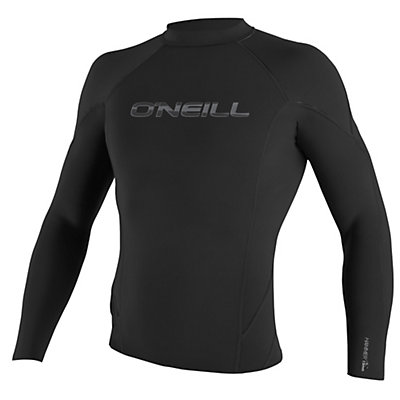 O'Neill Hammer Long Sleeve Crew Wetsuit Top 2016, Black-Black-Black, viewer