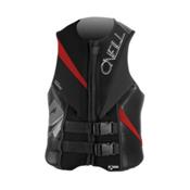 O'Neill Torque Adult Life Vest, Black-Graphite-Red, medium