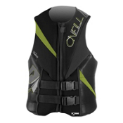 O'Neill Torque Adult Life Vest, Black-Graphite-Dayglo, medium