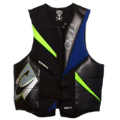O'Neill Torque Adult Life Vest, Black-Pacific-Dayglo, medium