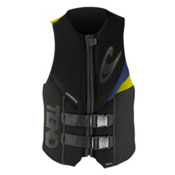 O'Neill Assault L.S. Adult Life Vest 2014, Black-Pacific Blue-Yellow, medium