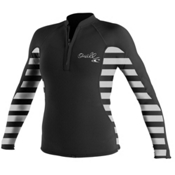 O'Neill JRS Stripe Long Sleeve Crew Womens Rash Guard, , medium
