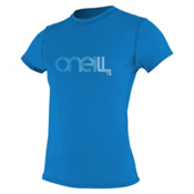O'Neill 24/7 Tech Short Sleeve Crew Womens Rash Guard, Ruby Blue, medium
