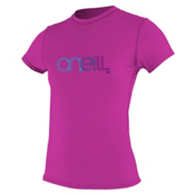 O'Neill 24/7 Tech Short Sleeve Crew Womens Rash Guard, Festival, medium