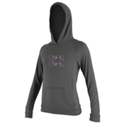 O'Neill 24/7 Tech Long Sleeve Hoodie Womens Rash Guard, Graphite, medium