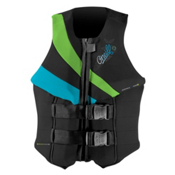 O'Neill Siren LS Womens Life Vest 2017, Black-Dayglo-Turquoise, medium