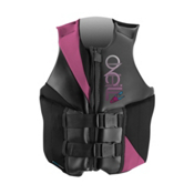 O'Neill Money Womens Life Vest, Black-Petunia-Graphite, medium