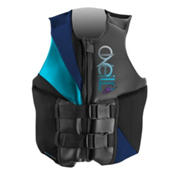O'Neill Money Womens Life Vest, Black-Navy-Turquoise, medium