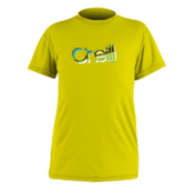 O'Neill Skins Short Sleeve Rash Guard, Yellow, medium