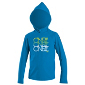 O'Neill Skins Hoodie Rash Guard, Brite Blue, medium