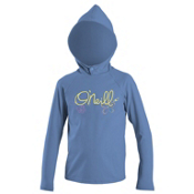 O'Neill Skins Hoodie Toddler Rash Guard, Periwinkle, medium