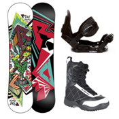 Ride Lowride Stealth Militia Kids Complete Snowboard Package 2013, , medium